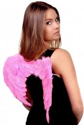 Крылья розовые перьевые