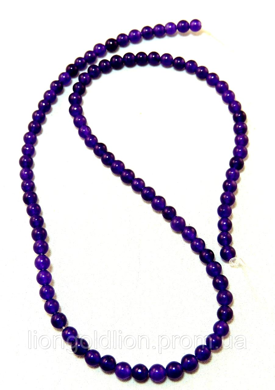 Заготовка из фиолетового агата 4мм
