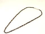 Бусы из серого агата,рондель 4мм, фото 2