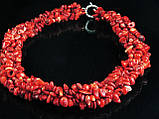 Воротник из крошки коралла, красный, фото 2