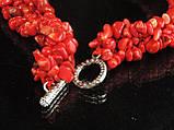 Воротник из крошки коралла, красный, фото 5