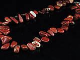 Бусы из красной  яшмы,бабочка, фото 2