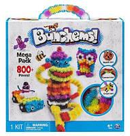 Детский конструктор липучка Bunchems 800 Pieces Вязкий пушистый шарик Банчемс на 800 деталей (an1011)