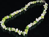 Крошка из агата бело-салатовая 45см, фото 2
