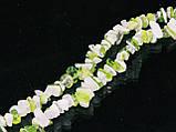 Крошка из агата бело-салатовая 45см, фото 3