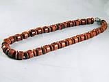 Бусы из коричневого авантюрина, бочонок+рондель, фото 2