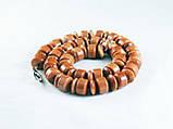 Бусы из коричневого авантюрина, бочонок+рондель, фото 4