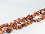Бусы из коричневого авантюрина, бабочка, фото 3