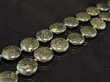 Бусы из змеевика, монета 49см, фото 2