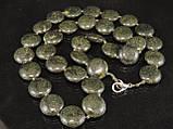 Бусы из змеевика, монета 49см, фото 4