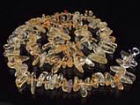 Бусы из цитрина, зубчиками, фото 3