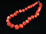 Бусы из коралла куски ромб, оранжевые, фото 2