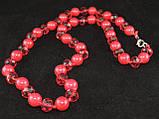 Набор из прессованного коррала(бусы,браслет,серьги), фото 5