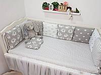Бортики защита на кроватку для новорождённых