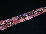 Бусы из варисцита, прямоугольник, розово-фиолетовый, фото 3