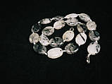 Бусы из кварца-волосатика (волос венеры), овал, фото 4