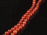 Бусы из рыжего сердолика, шар гладкий 6мм, фото 2