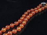 Бусы из рыжего сердолика, шар гладкий 8мм, фото 2