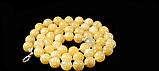 Бусы из  желтого оникса, 10мм 60 см, фото 2