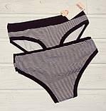 Трусики-бикини женские хлопковые Koza 38750-1  черные в полосочку L XL, фото 2