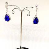 Сережки з синіми камінчиками, фото 2