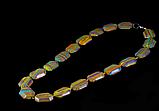 Бусы  из  цветного агата,четырёхугольник, фото 2