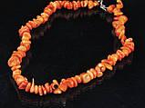 Крошка из оранжевого коралла 45см, фото 2