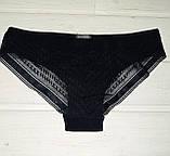 Трусики женские La Vivas 20285 с гипюром 2 шт в упаковке черные и белые М, фото 2
