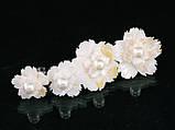 """Кольцо """"цветок"""" (2,4см) из перламутра, фото 3"""