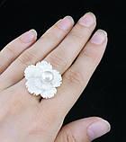 """Кольцо """"цветок"""" (2,4см) из перламутра, фото 4"""