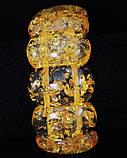 Браслет из янтарной смолы , желтый, овал широкий, фото 2