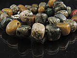 Бусы из моховой яшмы, кусочками, фото 2