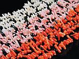 """Бусы из коралла """"иголочки"""", розовые 1,2м, фото 2"""