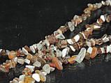 Крошка из агата 90см, бело-коричневая, фото 5