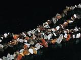 Крошка из агата 90см, бело-коричневая, фото 6