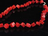 Бусы из коралла кубики, 50см, фото 2