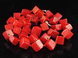 Бусы из коралла кубики, 50см, фото 4