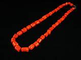 Бусы из коралла кусочки трубочки, оранжевые, фото 2