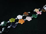 Бусы из самоцветов 48см, цветочек, фото 3