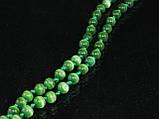 Бусы из кошачьего глаза, шар 6мм, зеленый, фото 2