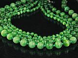 Бусы из кошачьего глаза, шар 6мм, зеленый, фото 4