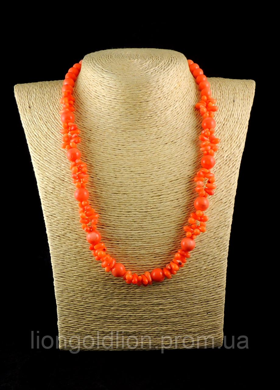 """Бусы из оранжевого коралла  """" Ронда"""