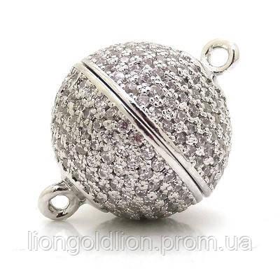 Замочек магнитный,12мм серебро