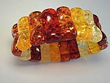 Браслет из янтарной смолы, цветной пластинками, фото 2