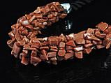 Жгут из крошки коричневого авантюрина, фото 3