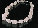 Бусы из розового кварца, кусочки, фото 3