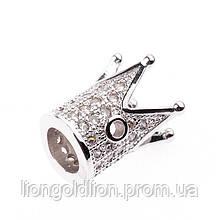 Бусина корона (1), серебро