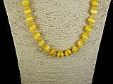 Бусы из кошачьего глаза, шар граненный 10мм  желтый, фото 2