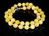 Бусы из кошачьего глаза, шар граненный 10мм  желтый, фото 3