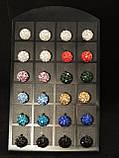 Серьги-шамбала, бирюзовые, фото 3